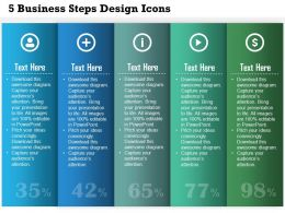 0414 Business Consulting Diagram 5 Business Steps Design Icons Powerpoint Slide Template