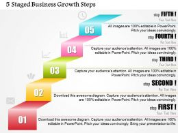 0414 Business Consulting Diagram 5 Staged Business Growth Steps Powerpoint Slide Template