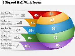 0414 Business Consulting Diagram 5 Stgaed Ball With Icons Powerpoint Slide Template