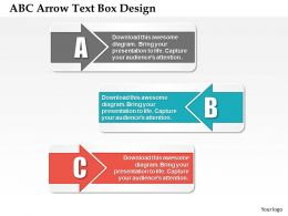 0414 Business Consulting Diagram ABC Arrow Text Box Design Powerpoint Slide Template