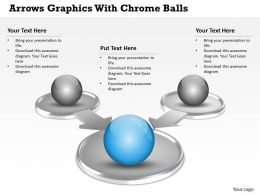 0414 Business Consulting Diagram Arrows Graphics With Chrome Balls Powerpoint Slide Template