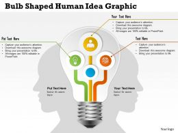 0414 Business Consulting Diagram Bulb Shaped Human Idea Graphic Powerpoint Slide Template