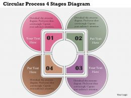 0414 Business Consulting Diagram Circular Process 4 Stages Diagram Powerpoint Slide Template