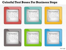 0414 Business Consulting Diagram Colorful Text Boxes For Business Steps Powerpoint Slide Template