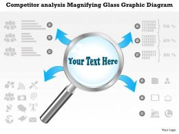 0414 Business Consulting Diagram Competitor Analysis Magnifying Glass Graphic Diagram Powerpoint Slide Template