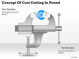 0414 Business Consulting Diagram Concept Of Cost Cutting In Pound Powerpoint Slide Template