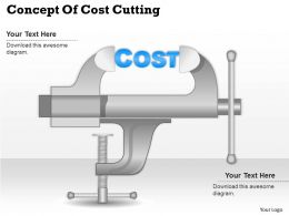 0414 Business Consulting Diagram Concept Of Cost Cutting Powerpoint Slide Template