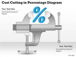 0414 Business Consulting Diagram Cost Cutting In Percentage Diagram Powerpoint Slide Template