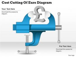 0414 Business Consulting Diagram Cost Cutting Of Euro Diagram Powerpoint Slide Template