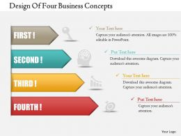0414 Business Consulting Diagram Design Of Four Business Concepts Powerpoint Slide Template