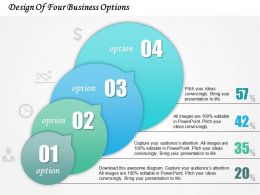 0414 Business Consulting Diagram Design Of Four Business Options Powerpoint Slide Template