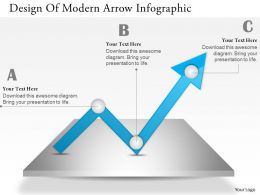 0414 Business Consulting Diagram Design Of Modern Arrow Infographic Powerpoint Slide Template