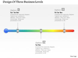 0414 Business Consulting Diagram Design Of Three Business Levels Powerpoint Slide Template