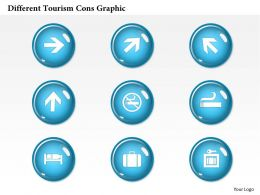 0414 Business Consulting Diagram Different Tourism Icons Graphic Powerpoint Slide Template