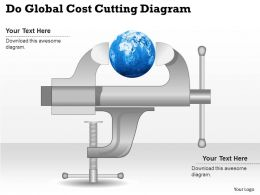 0414 Business Consulting Diagram Do Global Cost Cutting Diagram Powerpoint Slide Template