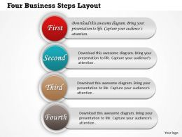 0414 Business Consulting Diagram Four Business Steps Layout Powerpoint Slide Template