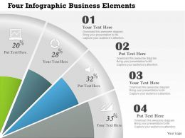 0414 Business Consulting Diagram Four Infographic Business Elements Powerpoint Slide Template