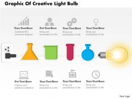 0414 Business Consulting Diagram Graphic Of Creative Light Bulb Powerpoint Slide Template