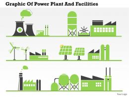 0414 Business Consulting Diagram Graphic Of Power Plant And Facilities Powerpoint Slide Template
