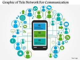 0414 Business Consulting Diagram Graphic Of Tele Network For Communication Powerpoint Slide Template