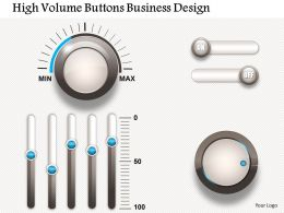 0414 Business Consulting Diagram High Volume Buttons Business Design Powerpoint Slide Template