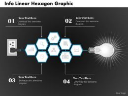 0414 Business Consulting Diagram Info Linear Hexagon Graphic Powerpoint Slide Template