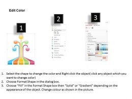 0414 Business Consulting Diagram Information Icons In Rainbow Form Powerpoint Slide Template