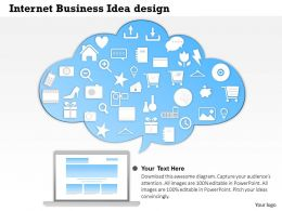 0414 Business Consulting Diagram Internet Business Idea Design Powerpoint Slide Template
