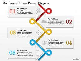 0414 Business Consulting Diagram Multilayered Linear Process Diagram Powerpoint Slide Template