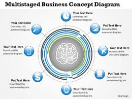 0414 Business Consulting Diagram Multistaged Business Concept Diagram Powerpoint Slide Template