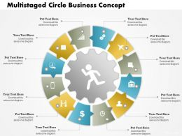 0414 Business Consulting Diagram Multistaged Circle Business Concept Powerpoint Slide Template