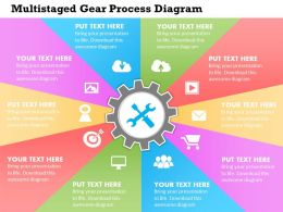 0414 Business Consulting Diagram Multistaged Gear Process Diagram Powerpoint Slide Template