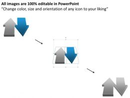 0414 Business Consulting Diagram Postive Negative Arrows For Comparison Powerpoint Slide Template
