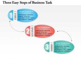 0414 Business Consulting Diagram Three Easy Steps Of Business Task Powerpoint Slide Template