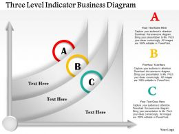 0414 Business Consulting Diagram Three Level Indicator Business Diagram Powerpoint Slide Template