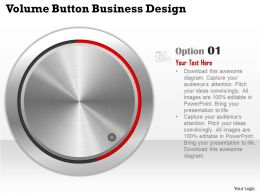 0414 Business Consulting Diagram Volume Button Business Design Powerpoint Slide Template