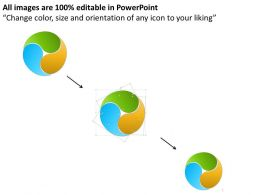 0414 Business Consulting Diagram Yin Yang Style Circle With Icons Powerpoint Slide Template