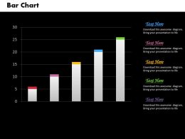 0414 Business Data Driven Column Chart Powerpoint Graph