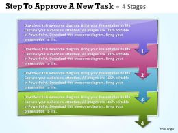 0414 Business PowerPoint Templates steps to approve new task Sales PPT Slides