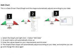 0414 Business Scale Comparing Column Chart Powerpoint Graph