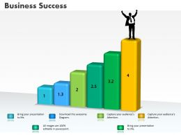 0414 Business Success Concept Column Chart Powerpoint Graph