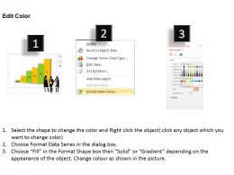 0414 Business Team With Growth Column Chart Powerpoint Graph