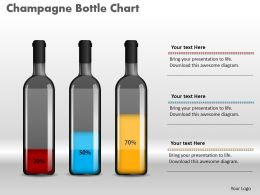 0414_champagne_bottle_percentage_column_chart_powerpoint_graph_Slide01