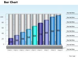 0414 Column Chart Business Data Illustration Powerpoint Graph
