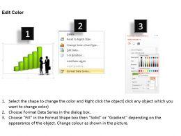 0414 Column Chart Business Deal Illustration Powerpoint Graph