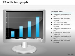 0414 Column Chart Graph On PC Powerpoint Graph
