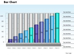 0414 Column Chart Growth Illustration Powerpoint Graph