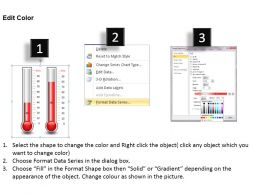 0414 Column Chart In Thermometer Style Powerpoint Graph