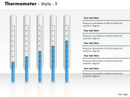 0414 Column Chart Thermometer Graph Powerpoint Graph