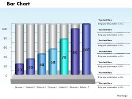 0414 Column Chart With Business Growth Powerpoint Graph